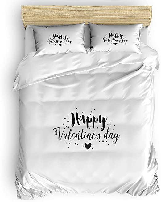 Comforance 4 Pieces Bedding Duvet Cover Set King Size Ultra Soft Quilt Cover With Zipper Closure 2 Pillow Shams H Bed Duvet Covers Duvet Cover Sets Quilt Cover