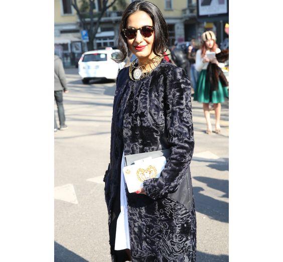 Street look à la Fashion Week de Milan automne-hiver 2014-2015, Jour 6