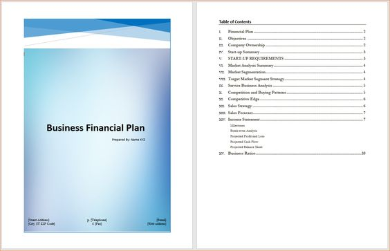 Business Financial Plan Template u2013 Microsoft Word Templates - financial plan template
