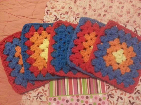 """6"""" squares by Marie Dean Eisenhower donated to Handmade for Hope Afghan for Hope.  https://www.facebook.com/H4HFoundation2013"""