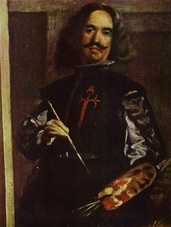 (Détail) Portrait de Velasquez lui même - Les Ménines