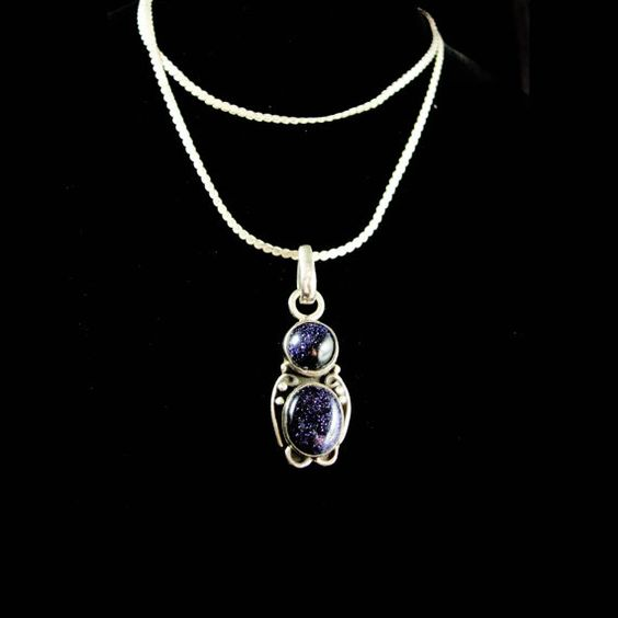 This beautiful mystical stone will draw attention and have people complimenting you each time they see it. Blue Goldstone is associated with