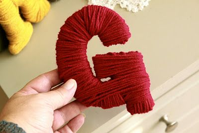 """Yarn wrapped letters spelling """"Grateful""""."""