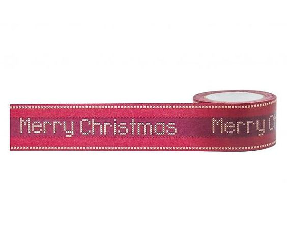 Merry Christmas Cross Stitch Washi Decorative by PlayingWithColor2