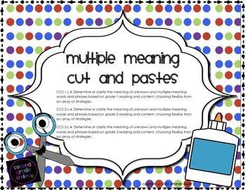 words with multiple meanings worksheets for grade 1 mrs heeren s happenings multiple meanings. Black Bedroom Furniture Sets. Home Design Ideas