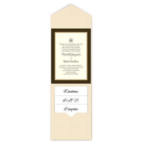 5 x 7 V-Flap Folio Pocket Wedding Invitations  - 3 Layers by MyGatsby.com