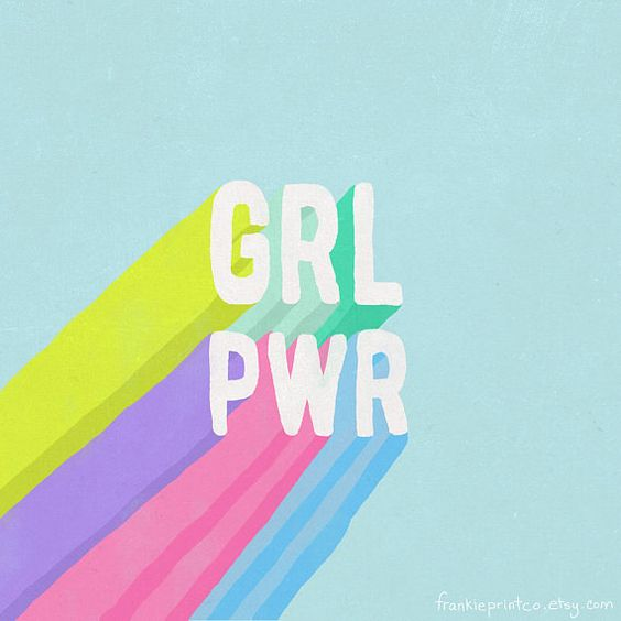 GRL PWR   (Pillows, tapestry + duvets from FrankiePrintCo on etsy)