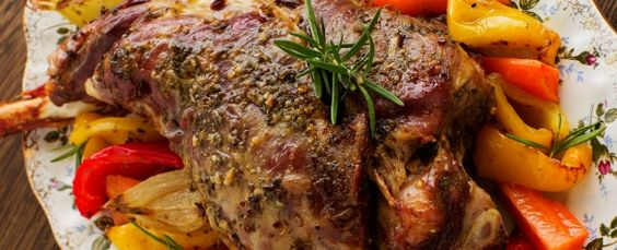 Mustard & Rosemary Glazed Leg of Lamb