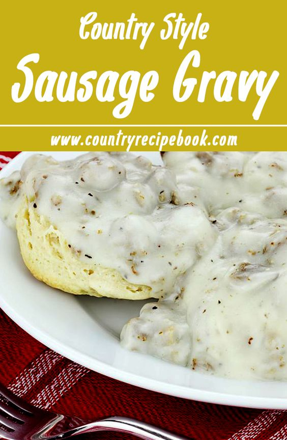 Easy recipe for country style Sausage Gravy. Absolutely perfect for making the most delicious biscuits and gravy.