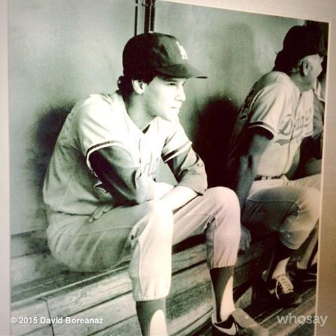 Dodger Bat Boy David Boreanaz's photo.