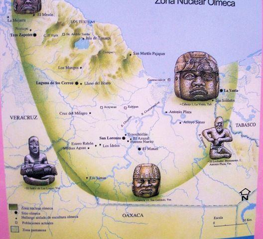 Los misteriosos olmecas Los Aztecas – Aztec Mexico Map