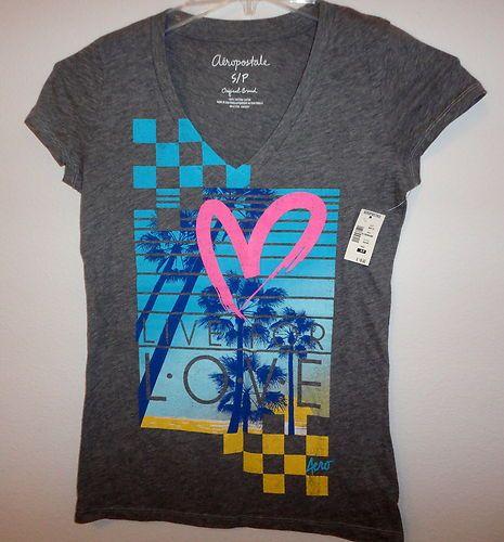 NWT Aeropostale LIVE FOR LOVE V Neck T-Shirt