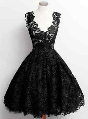 Damen Gothic Steampunk Spitzenkleid Festlich Kleid Ballkleid Schwarz XS S M L in Kleidung & Accessoires, Damenmode, Kleider   eBay