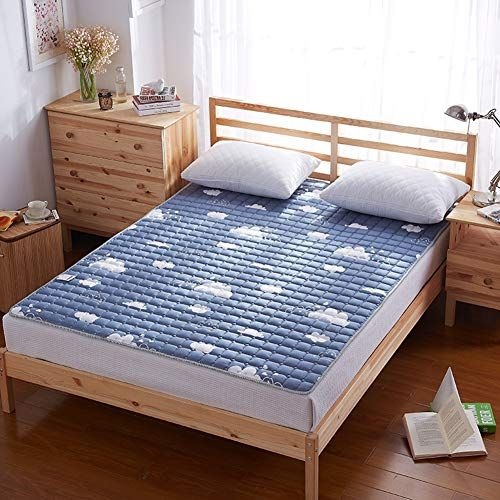 Yq Whjb Thin Mattress Pads Polyester Mattress Toppers Non Slip Foldable Hypoallergenic Single Double Tatami Mattress Mattress Thin Mattress Mattress Protector