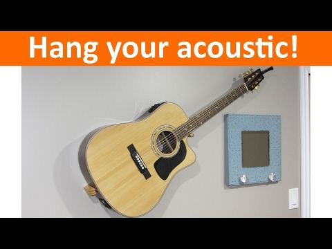 Floating Acoustic Guitar Mount Diy Youtube Guitar Mount Hanging Guitars Guitar Wall