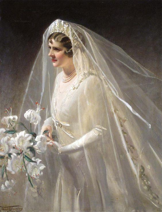 """Francis (""""Frank"""") Owen Salisbury (1874-1962)   — The Bride, Sylvia, 1950  (918×1200):"""