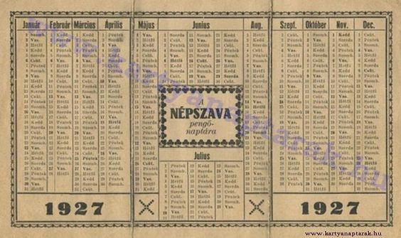 1927 - 1927_0009 - Régi magyar kártyanaptárak