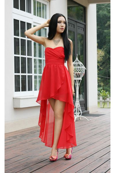 Red Chiffon Dress 2014 - pictures- photos- images - Red Chiffon ...