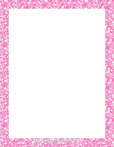 printable pink glitter border  use the border in microsoft