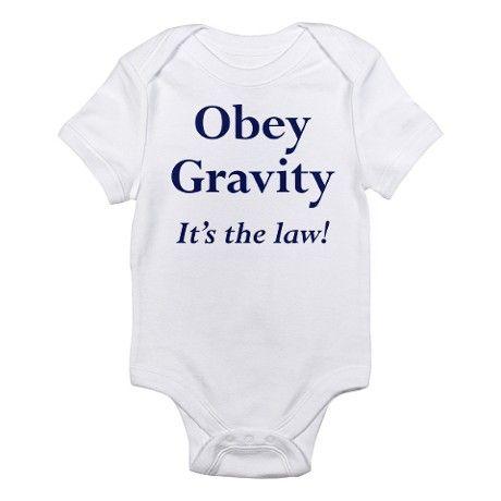 Black Gravity Tee Infant Bodysuit
