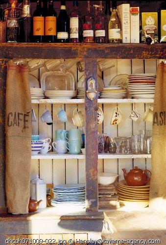 Burlap sack cabinet curtains cottage kitchen decor for Burlap sack decor