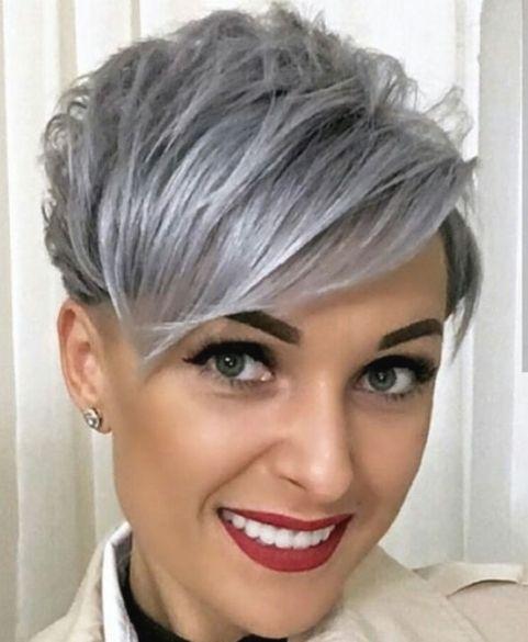 Trend Kurzhaarfrisuren Grau Gefarbt Kurzhaarfrisuren Kurzhaarschnitte Frisuren Kurze Graue Haare