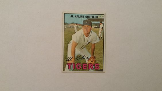 1967 Topps Al Kaline single baseball card