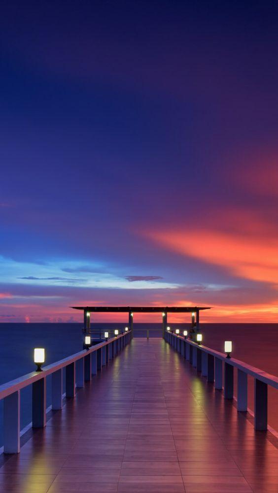 Sunset Wallpaper Yang Indah Wallpaper Matahari Terbenam Pemandangan