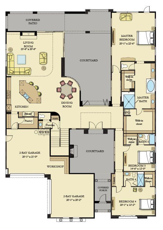Residence Six New Home Plan In Southern Highlands Olympia Ridge By Lennar New House Plans Garage House Plans House Plans