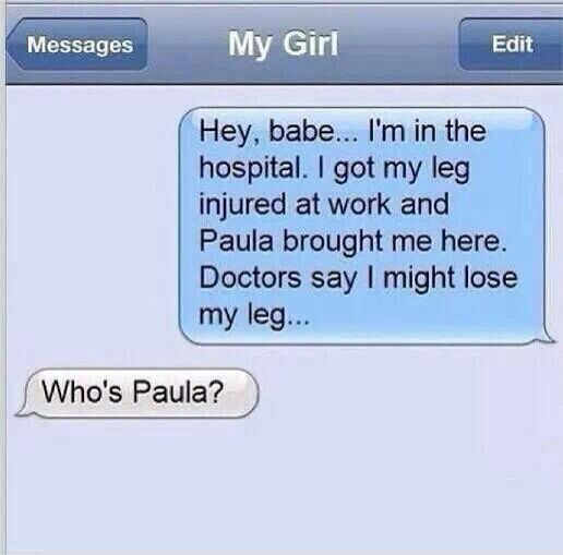 Yep that's a woman's first response