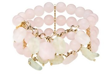 Pretty pink & green quartz bracelet from the Kanchan Collection