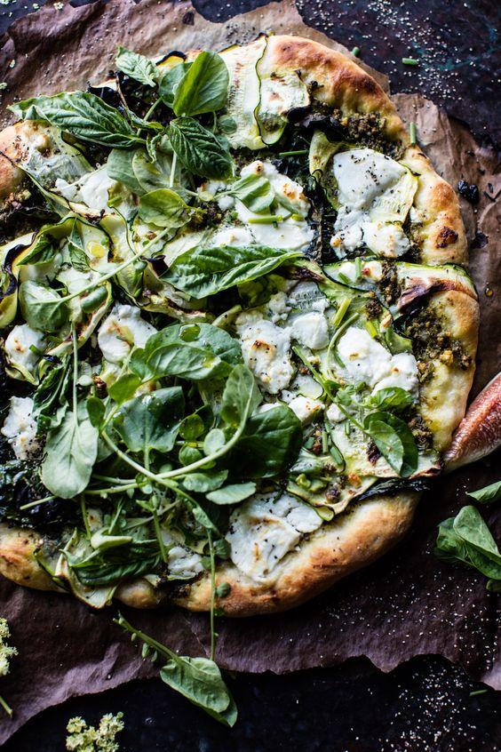 Garden Greens Goddess Pizza | halfbakedharvest.com @hbharvest:
