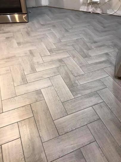 Trafficmaster Glenwood Fog 7 In X 20 In Ceramic Floor And Wall Tile 10 89 Sq Ft Case Gw09720hd1p2 T Ceramic Floor Flooring Ceramic Tile Floor Kitchen