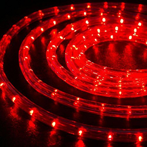 Wyzworks 1 2 Thick Red Pre Assembled Led Rope Lights With 10 25 50 100 150 Option Led Rope Led Rope Lights Holiday Decor Christmas