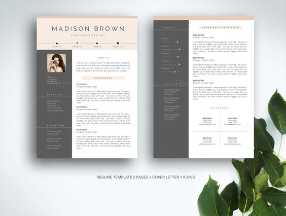 Resume Template for MS Word Resume, Templates and For m - resumes in word