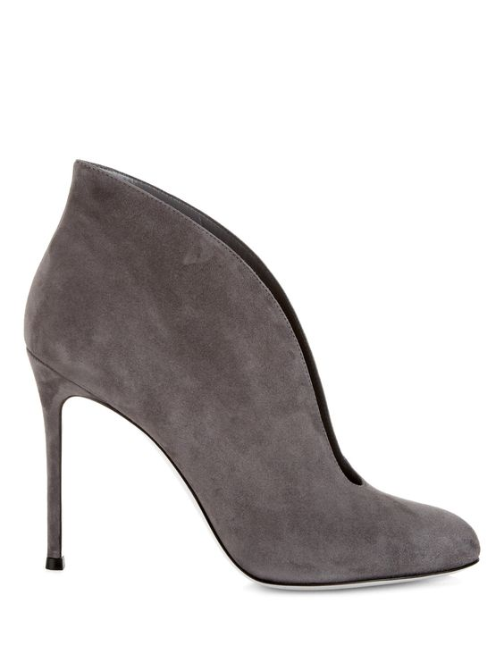 Vamp suede ankle boots by Gianvito Rossi | Shop now at #MATCHESFASHION.COM