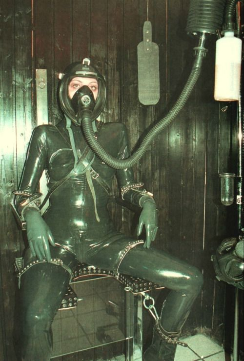 Torture with gas mask in bdsm