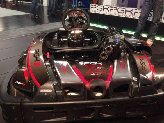 Modelo de Kart shifter com 4 marchas será o usado no Mundial (Foto: PGK Z Kart/ OnRails)