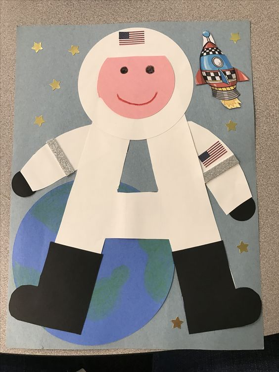 A is for astronaut. Super cute letter of the week craft for the letter A!