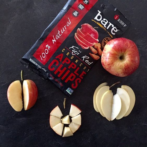 Our apple chips are delicious, nutritious and simple no matter how you slice it #crunchon #apples #driedfruit #healthysnacks #baresnackattack #snacksgonesimple #nongmo #vegan #glutenfree