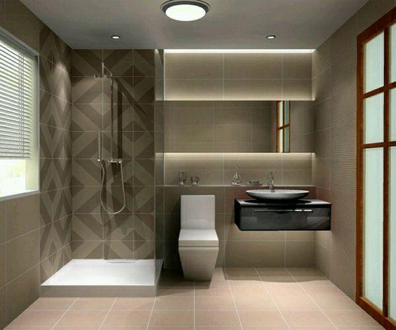 duschwände design glas badezimmer fliesen kombinieren
