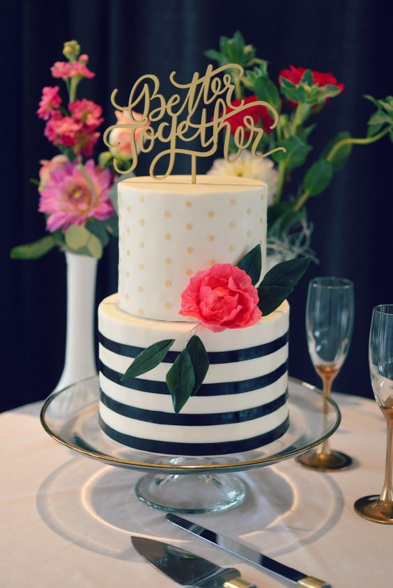 wedding cake stripes and polka dots modern wedding cake with black stripes a sleek 25766