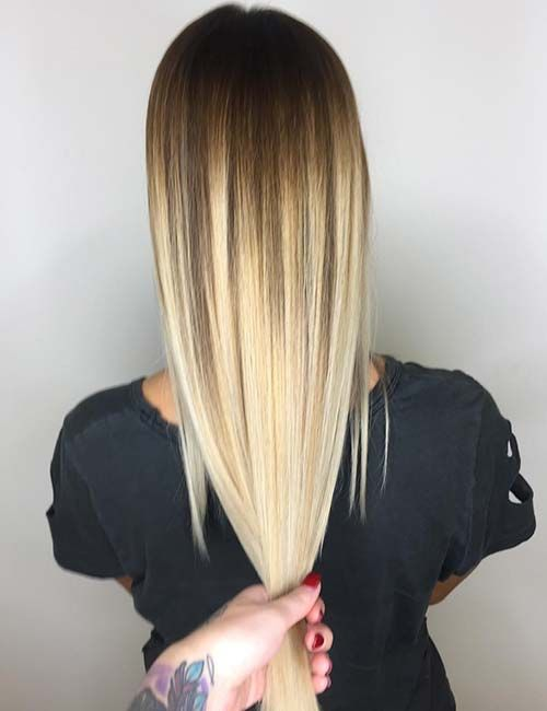 Brown To Blonde Hair Color Ideas Latte Fade Blonde Hair Color Brown To Blonde Brown Hair Fade