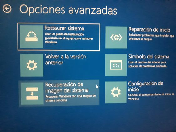 Recuperar Windows 10