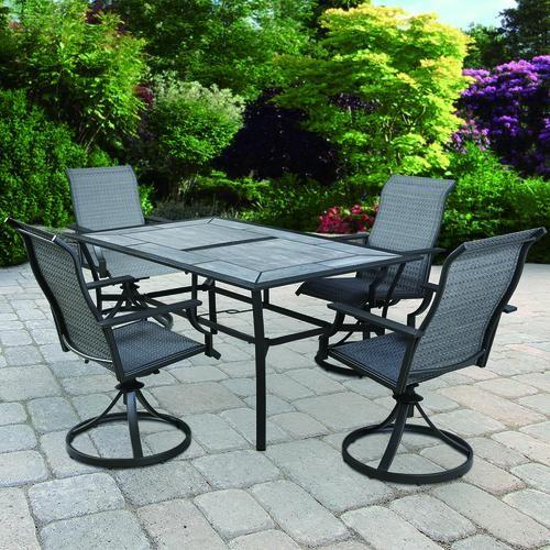 Backyard Creations Southfield Collection 5 Piece Dining Patio Set Backyard Creations Patio Furniture Patio