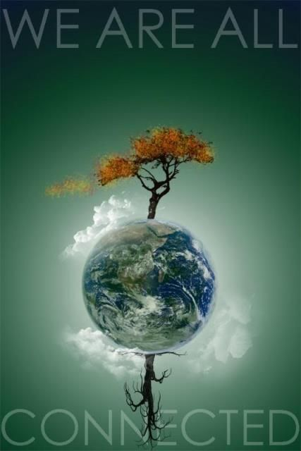 We Are ALL Connected! In more ways than we know:Climate, Environment, Resources, Economy, Food,...
