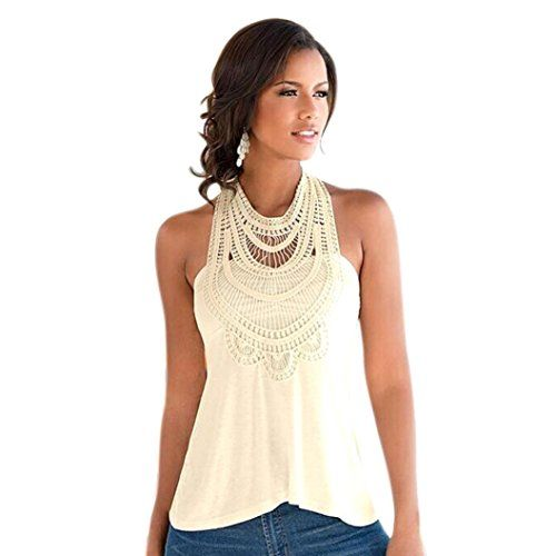 Mosunx(TM) Sexy Women Lace Vest Top Sleeveless Casual Tank Tops Blouse