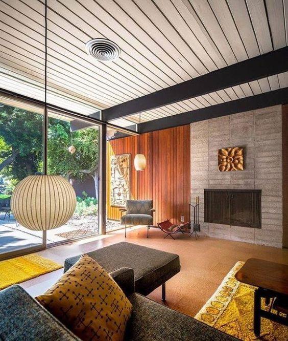 boberts residence - craig ellwood - darren bradley - living | George Nelson Ball Pendant lamp | http://modernica.net/ball-lamp.html