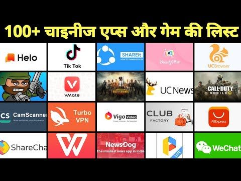 Chinese Apps List In India 2020 100 China Apps Game Tiktok Ban Support Indian Apps Youtube Apps List App List