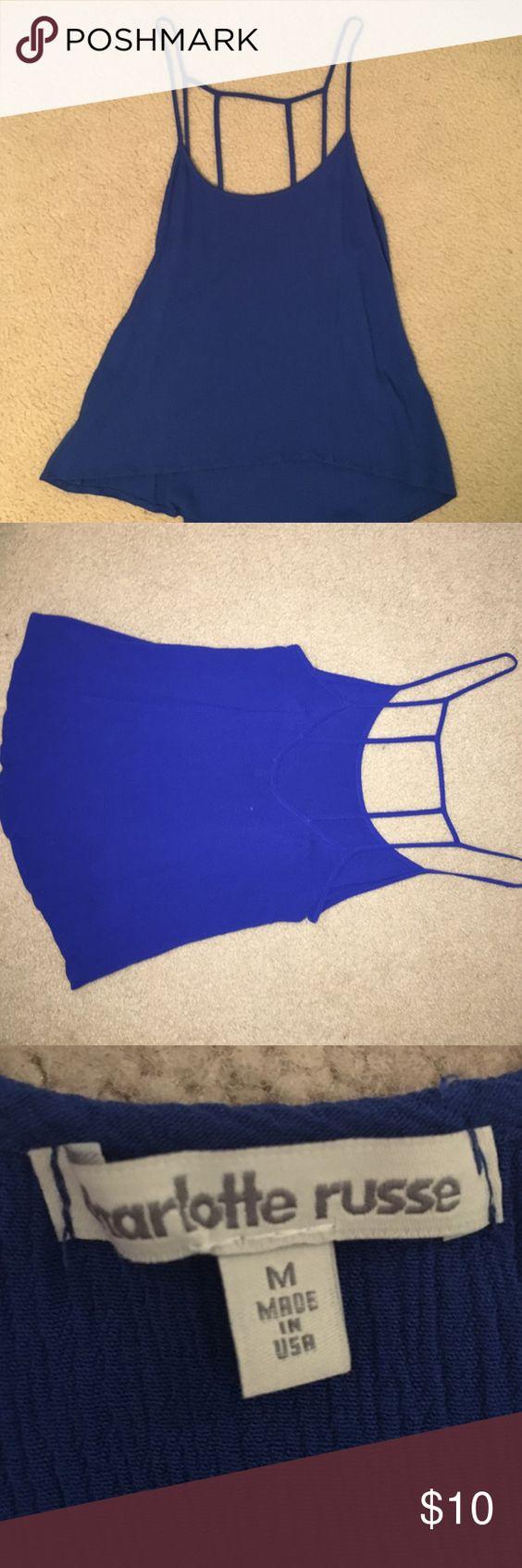 Charlotte Russe royal crop top Royal blue crop top, size medium, never worn Tops Crop Tops